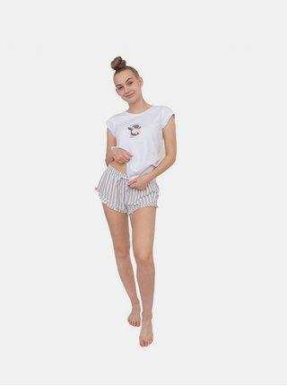 Dámské pyžamo Gina bílé