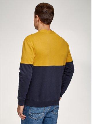 Mikina bavlněná color block OODJI