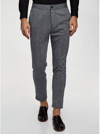 Kalhoty úpletové kostkované OODJI