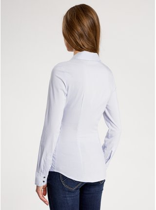 Košile bavlněná se zapínáním na druky OODJI