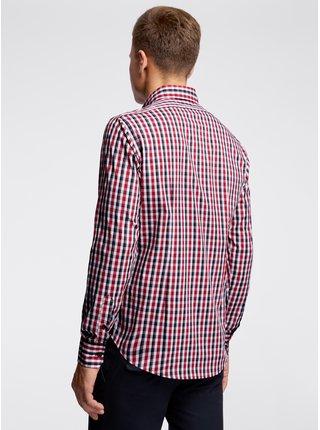 Košile vypasovaná kostkovaná OODJI