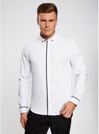 Košile klasická s kontrastním lemováním OODJI