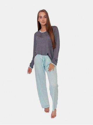Dámské pyžamo bambusové Gina modré