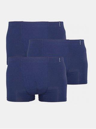 3PACK pánské boxerky Stillo tmavě modré