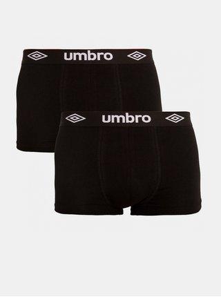 2PACK pánské boxerky Umbro černé