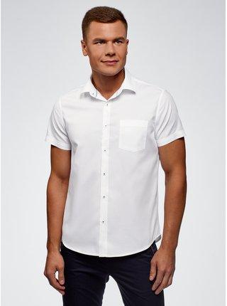 Košeľa klasická s krátkym rukávom OODJI