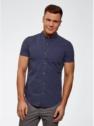 Košile bavlněná vypasovaná OODJI