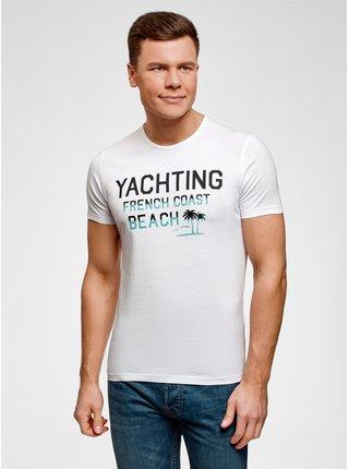 Tričko s plážovým potiskem OODJI