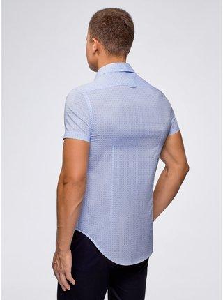 Košile vypasovaná s krátkým rukávem OODJI