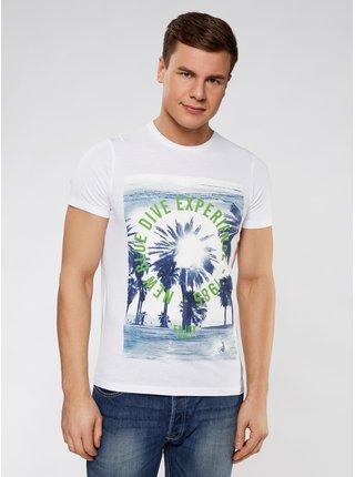 Tričko rovného střihu s plážovým potiskem OODJI