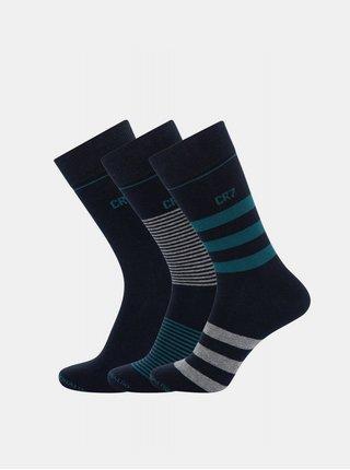 3PACK ponožky CR7 vícebarevné