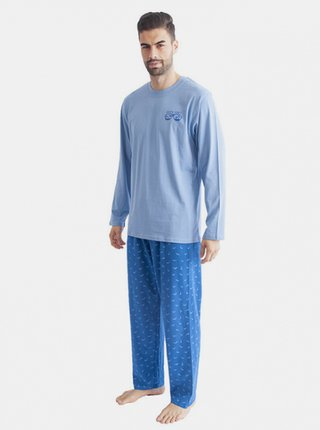 Pánské pyžamo Gino světle modré