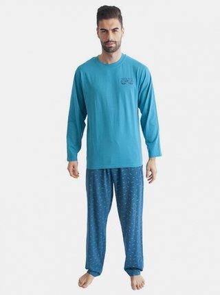 Pánské pyžamo Gino tyrkysové