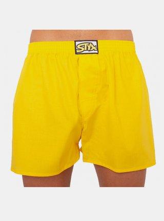 Pánské trenky Styx klasická guma žluté