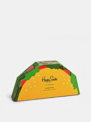 2PACK ponožky Happy Socks Taco Socks Gift Set