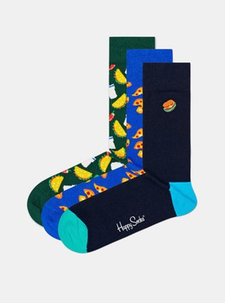 3PACK ponožky Happy Socks Junk food socks gift box