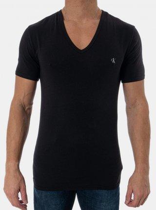2PACK pánské tričko CK ONE V neck černé