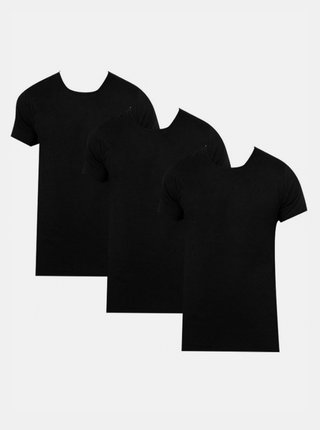 3PACK pánské tričko Calvin Klein černé