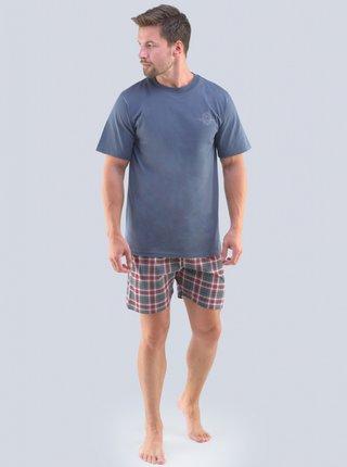Pánské pyžamo Gino nadrozměr modré