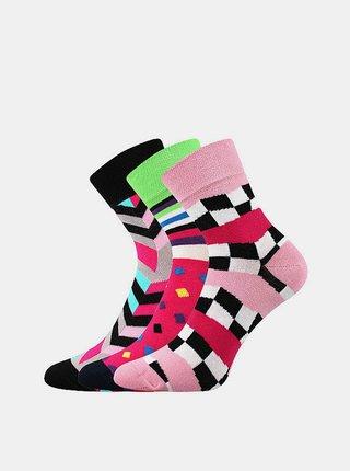 3PACK ponožky Boma vícebarevné