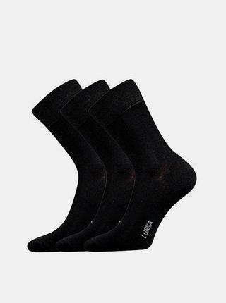 3PACK ponožky Lonka bambusové černé