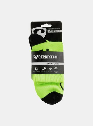 Ponožky Represent long simply logo yellow