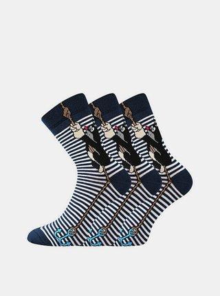 3PACK ponožky Boma modré