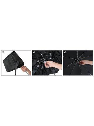 s.Oliver Smart Uni Glencheck golden sand skládací mini deštník - Šedá