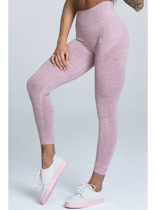 Legíny Gym Glamour Bezešvé Pink Melange
