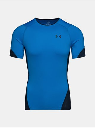 Tričko Under Armour HG Rush 2.0 Comp SS - Modrá