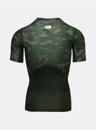 Tričko Under Armour UA HG Armour Camo Comp SS - Zelená
