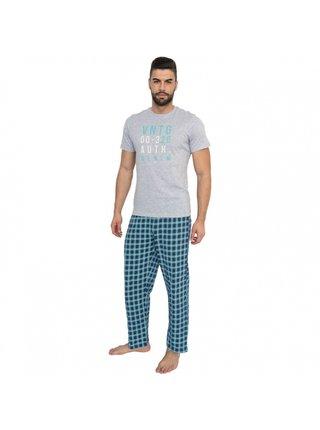 Pánské dlouhé pyžamo Molvy vícebarevné