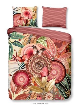 Home farebné obojstranné posteľné obliečky Jimena 140x200cm
