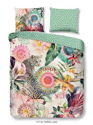 Home farebné obojstranné posteľné obliečky Verda 140x200cm