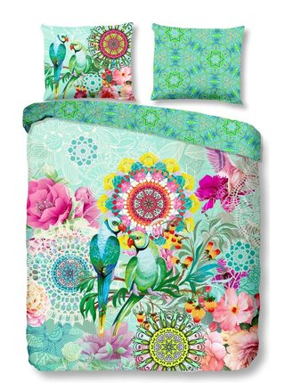 Home tyrkysové obojstranné posteľné obliečky Cilou 140x200cm