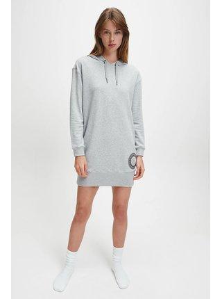 Calvin Klein šedé mikinové šaty Hoodie Dress