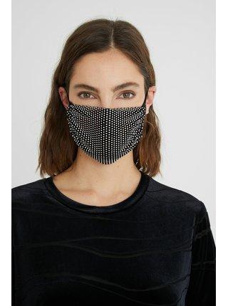 Desigual černá rouška Mask Pack Night s kamínky