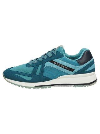 Scotch & Soda modré pánské tenisky Vivex Sneaker aqua blue