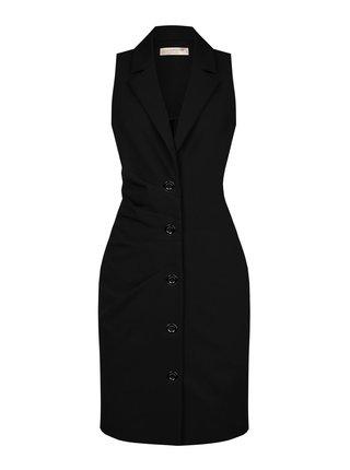 Rinascimento černé šaty bez rukávů