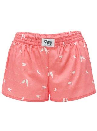 Slippsy ružové dámske trenírky Dove Girl s holubičkami
