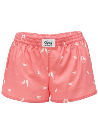 Slippsy růžové trenýrky Dove Girl s holubičkami