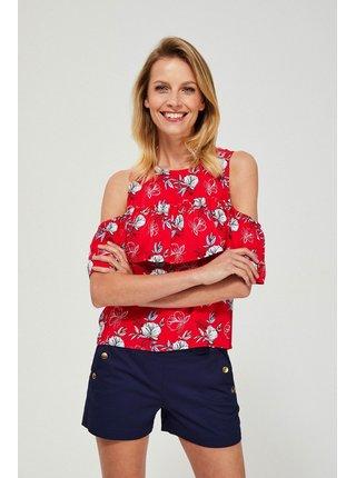Moodo červené tričko s odhalenými rameny