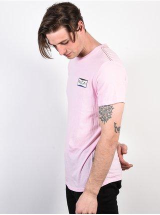 RVCA REREDS ROSEMIST pánské triko s krátkým rukávem - růžová