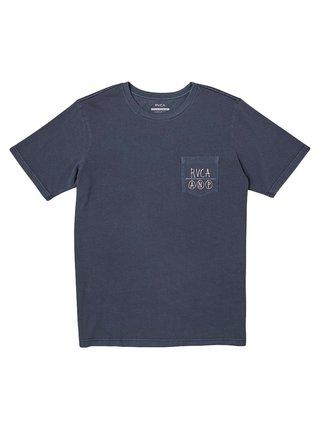 RVCA HORTON ANP MOODY BLUE pánské triko s krátkým rukávem - modrá