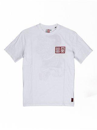 Element TRADITION indigo pánské triko s krátkým rukávem - bílá