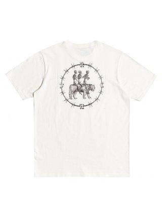RVCA SKELETON WALK ANTIQUE WHITE pánské triko s krátkým rukávem - bílá