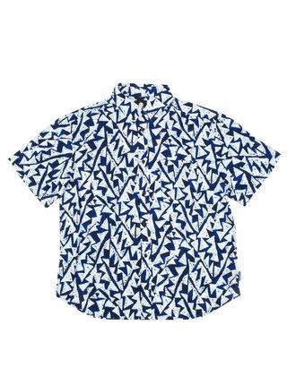Element RISE BLUE RIDGE košile pro muže krátký rukáv - modrá