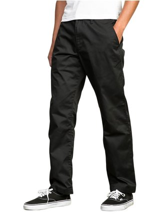 RVCA AMERICANA CHINO RVCA BLACK plátěné kalhoty pánské - černá