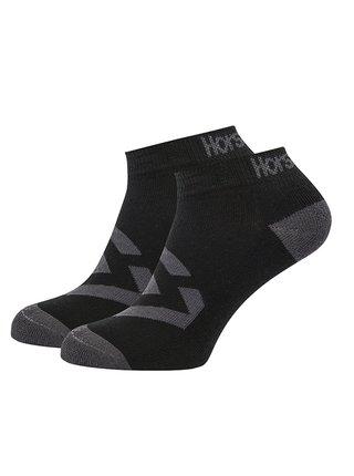 Horsefeathers NORM black kotníkové ponožky pánské - černá