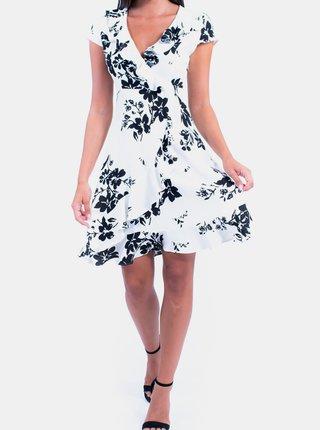Biele kvetované šaty s volánom Culito from Spain